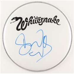 "David Coverdale Signed Whitesnake 12.5"" Drum Head (JSA COA)"