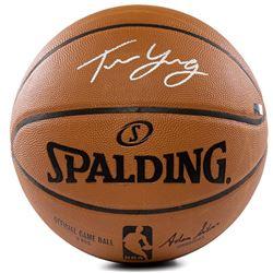 Trae Young Signed Official NBA Game Ball (Panini COA)