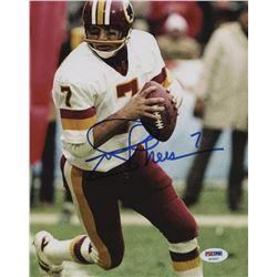 Joe Theismann Signed Washington Redskins 8x10 Photo (PSA Hologram)