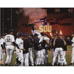 """Trevor Hoffman Signed San Diego Padres 8x10 Photo Inscribed """"#500"""" (PSA Hologram)"""