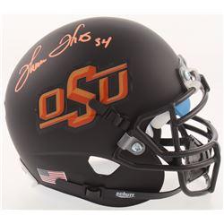 Thurman Thomas Signed Oklahoma State Cowboys Matte Black Mini Helmet (Schwartz COA)