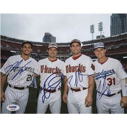 MLB All-Star Game 8x10 Photo Signed by (4) with Nolan Arenado, Paul Goldschmidt, Joc Pederson,  A.J.