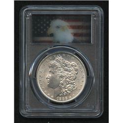 "1886 Morgan Silver Dollar (PCGS MS64) (Lenticular ""Hologram"" ""Action Vu"" Eagle Label)"