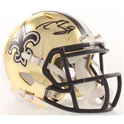 Drew Brees Signed New Orleans Saints Chrome Speed Mini Helmet (PSA Hologram)