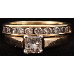 14kt Yellow Gold Diamond Bridal Set