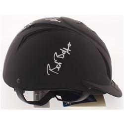Mike Smith, Bob Baffert  Victor Espinoza Signed Full-Size Matte Black Equestrian Racing Helmet Inscr