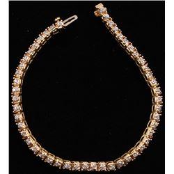 14Kt Yellow Gold Line Bracelet