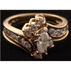 14Kt Yellow Gold Dimond Bridal Set