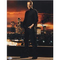 "Kiefer Sutherland Signed ""24"" 11x14 Photo (Beckett LOA)"