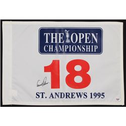 """Arnold Palmer Signed St. Andrews 1995 """"The Open Championship"""" Golf Pin Flag (PSA LOA)"""