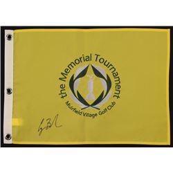 "George H. W. Bush Signed ""The Memorial Tournament"" Golf Pin Flag (PSA LOA)"