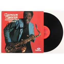 "Clarence Clemons Signed ""Rescue"" Vinyl Album Cover (PSA COA)"