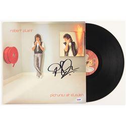 "Robert Plant Signed ""Pictures At Eleven"" Vinyl Album Cover (PSA COA)"