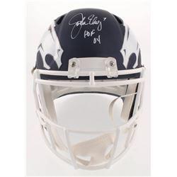 """John Elway Signed Denver Broncos AMP Alternate Speed Full-Size Helmet Inscribed """"HOF 04"""" (Beckett CO"""
