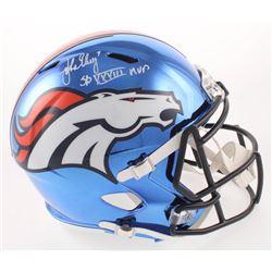 "John Elway Signed Denver Broncos Chrome Speed Full-Size Helmet Inscribed ""SB XXXIII MVP"" (Beckett CO"
