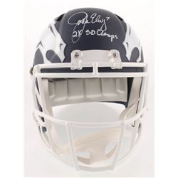 "John Elway Signed Denver Broncos AMP Alternate Speed Full-Size Helmet Inscribed ""2X SB Champs"" (Beck"