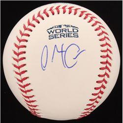 Alex Cora Signed Official 2018 World Series Baseball (PSA Hologram)
