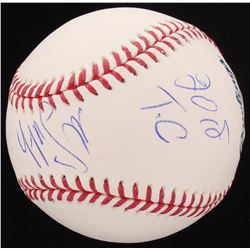 "Mike Smith Signed OML Baseball Inscribed ""2018 T.C"" (PSA Hologram)"