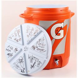 New York Giants Super Bowl XXI  XXV Gatorade Dispenser Team-Signed by (28) with Lawrence Taylor, Jef