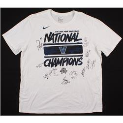 "2016 Villanova Wildcats ""National Champions"" T-Shirt Team-Signed by (12) with Kris Jenkins, Ryan Arc"
