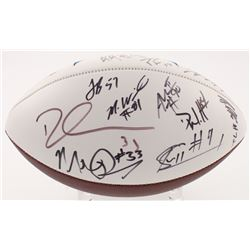 Los Angeles Chargers Logo Football Signed by (17) with Philip Rivers, Joey Bosa, Mike Pouncey, Derwi