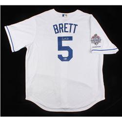 George Brett Signed Kansas City Royals Majestic Jersey (Beckett COA)