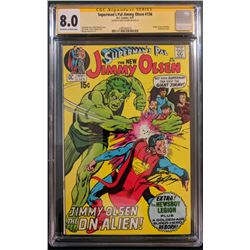 """Neal Adams Signed 1971 """"Superman's Pal, Jimmy Olsen"""" Issue #136 DC Comic Book (CGC Encapsulated - 8."""