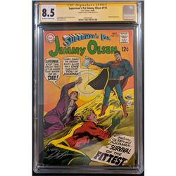 """Neal Adams Signed 1968 """"Superman's Pal, Jimmy Olsen"""" Issue #115 DC Comic Book (CGC Encapsulated - 8."""