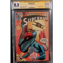 """Neal Adams Signed 1971 """"Superman"""" Issue #234 DC Comic Book (CGC Encapsulated - 8.5)"""