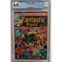 "1973 ""Fantastic Four"" Annual Issue #10 Marvel Comic Book (CGC 6.0)"
