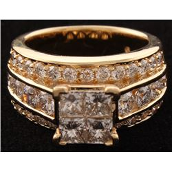 14Kt Yellow Gold Diamond Bridal Ring