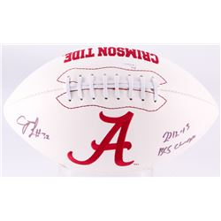 "C.J. Mosley Signed Alabama Crimson Tide Logo Football Inscribed ""2012 - 13 BCS Champs"" (JSA COA)"