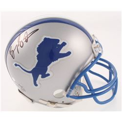 Barry Sanders Signed Detroit Lions Throwback Mini Helmet (Beckett COA  Schwartz Hologram)