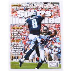 Marcus Mariota Signed 2015 Sports Illustrated Magazine (JSA COA  Mariota Hologram)