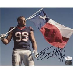 J.J. Watt Signed Houston Texans 8x10 Photo (JSA COA  Watt Hologram)