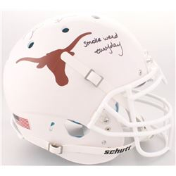 "Ricky Williams Signed Texas Longhorns Full-Size Authentic On-Field Helmet Inscribed ""Smoke Weed Ever"