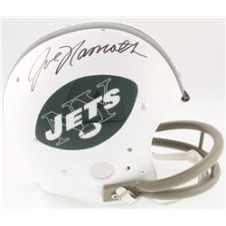 Joe Namath Signed New York Jets Full-Size Throwback Suspension Helmet (JSA COA)