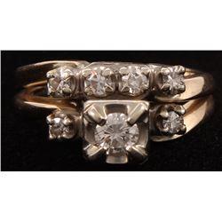 14kt White Gold Diamond Bridal Set