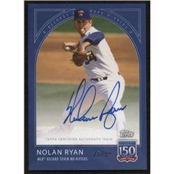 2019 Topps 150 Years of Baseball Autographs #46A Nolan Ryan #25/99
