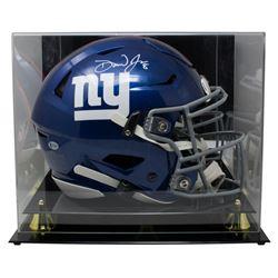 Daniel Jones Signed New York Giants Full-Size Authentic On-Field SpeedFlex Helmet with Acrylic Displ