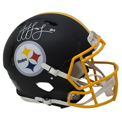 JuJu Smith-Schuster Signed Pittsburgh Steelers Full-Size Authentic On-Field Matte Black Speed Helmet