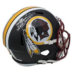 "Joe Theismann Signed Washington Redskins Matte Black Full-Size Speed Helmet Inscribed ""SB XVII Champ"