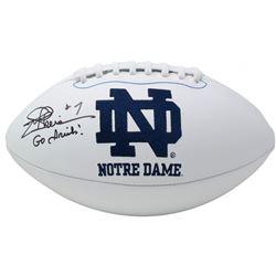 "Joe Theismann Signed Notre Dame Fighting Irish Logo Football Inscribed ""Go Irish!"" (JSA COA)"