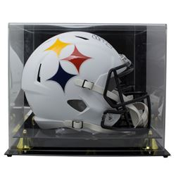 JuJu Smith-Schuster Signed Pittsburgh Steelers Full-Size AMP Alternate Speed Helmet with Acrylic Dis