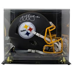 JuJu Smith-Schuster Signed Pittsburgh Steelers Full-Size Matte Black Speed Helmet with Acrylic Displ