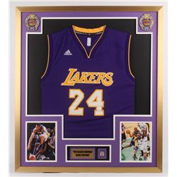 Kobe Bryant Los Angeles Lakers 32x36 Custom Framed Jersey with 30,000 Points Pin