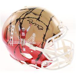 Joe Montana Signed San Francisco 49ers Full-Size Authentic On-Field Hydro-Dipped Speed Helmet (JSA C
