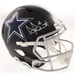 Dak Prescott Signed Dallas Cowboys Matte Black Full-Size Speed Helmet (Beckett COA)