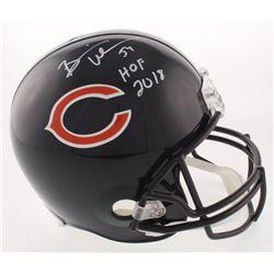 """Brian Urlacher Signed Chicago Bears Full-Size Helmet Inscribed """"HOF 2018"""" (Beckett COA)"""