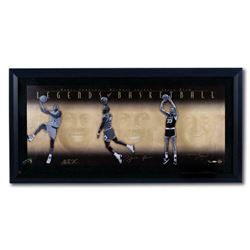 Michael Jordan, Larry Bird  Magic Johnson Signed 26x52 Custom Framed LE Photo (UDA COA)